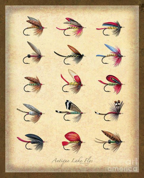Painting - Antique Lake Flys by JQ Licensing