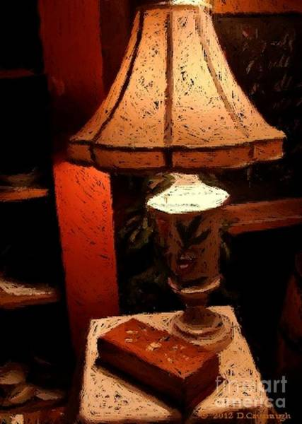 Photograph - Antique Lamp by Donna Cavanaugh