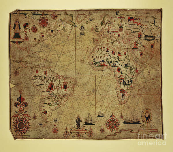 Ancient America Photograph - Antique Map From 1633 by Colin and Linda McKie