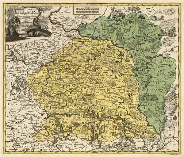 Antique Map Of Lithuania And Belarus By Tobias Conrad Lotter - Circa 1770 Art Print