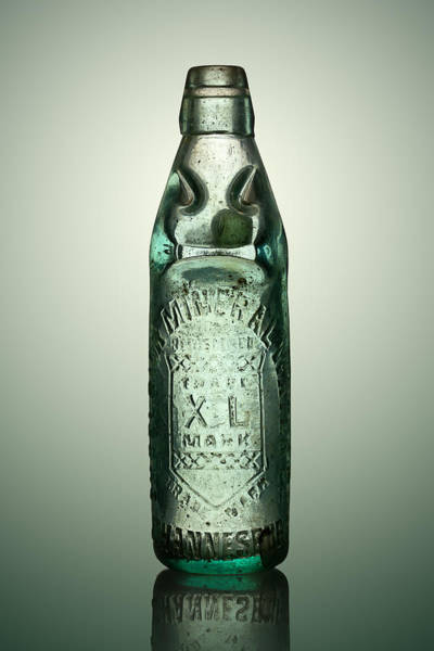 Stained Photograph - Antique Mineral Glass Bottle by Johan Swanepoel
