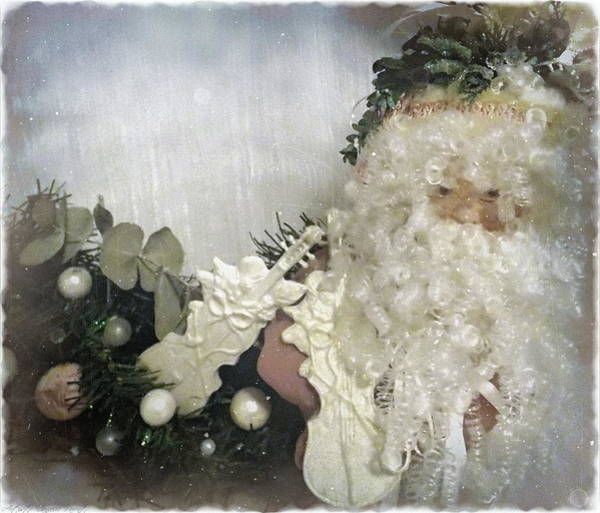 Photograph - Antique Music Santa  by Danielle  Parent