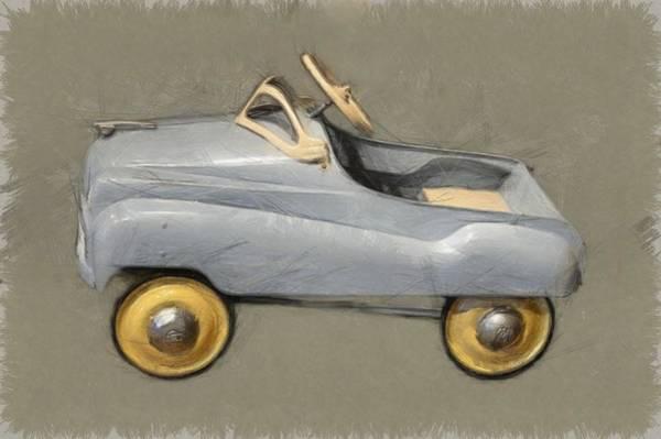 Pedal Car Wall Art - Photograph - Antique Pedal Car Ll by Michelle Calkins