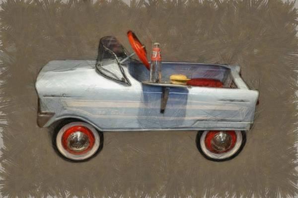 Pedal Car Wall Art - Photograph - Antique Pedal Car Lv by Michelle Calkins