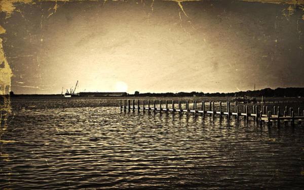 Antique Photo Of Pier  Art Print
