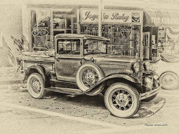 Clunker Wall Art - Photograph - Antique Pickup Truck by Thomas Woolworth
