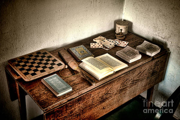 Photograph - Antique Play Desk by Olivier Le Queinec