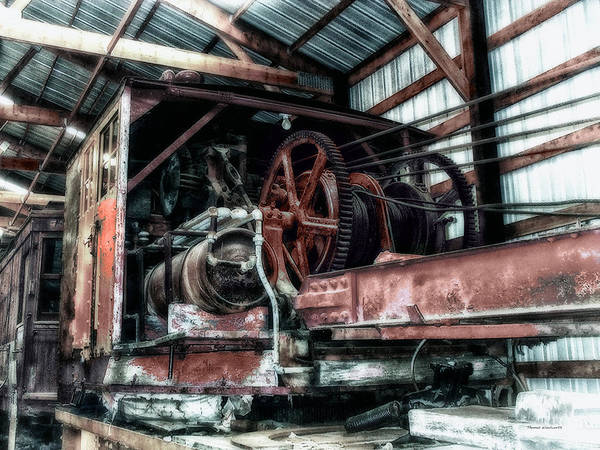 Wall Art - Photograph - Antique Railroad Crane by Thomas Woolworth