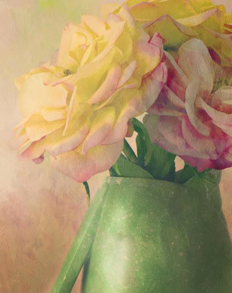 Shabby Chic Roses Wall Art - Photograph - Antique Roses by Theresa Tahara