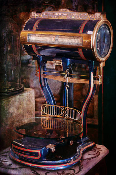 Photograph - Antique Scale by Gunter Nezhoda