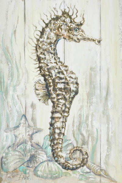 Wall Art - Digital Art - Antique Sea Horse I by Patricia Pinto