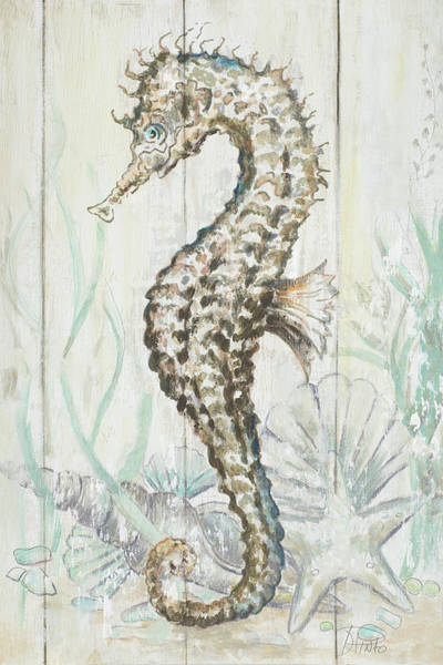Wall Art - Digital Art - Antique Sea Horse II by Patricia Pinto