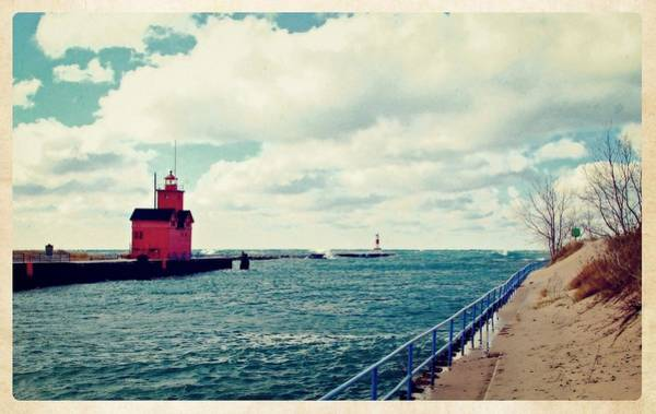 Holland State Park Photograph - Antique Snapshot Series - Holland Channel by Michelle Calkins
