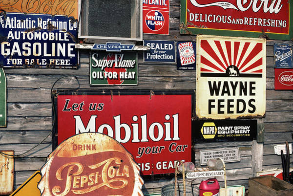 Wall Art - Photograph - Antique Store Featuring Old Brand Name by Vintage Images