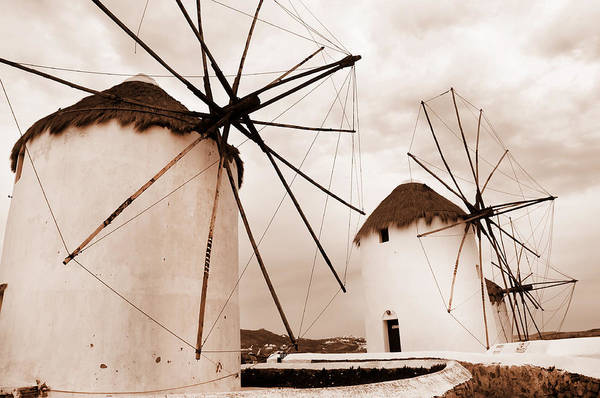 Photograph - Antique Style Windmills by Brenda Kean
