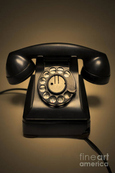 Wall Art - Photograph - Antique Telephone by Diane Diederich