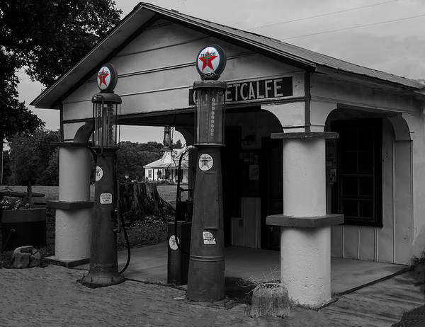 Digital Art - Antique Texaco Visible Gas Pumps by Chris Flees