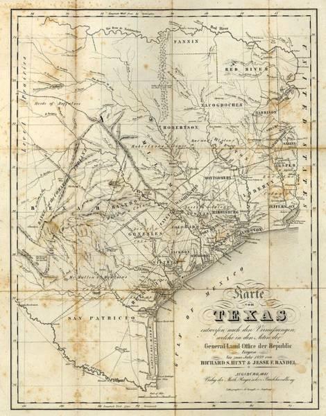 Wall Art - Digital Art - Antique Texas Map 1841 by Dan Sproul