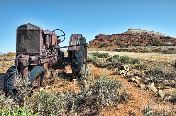 Photograph - Antique Tractor by Gary Beeler