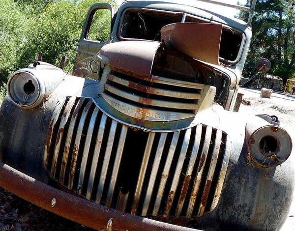 Photograph - Antique Chevy Truck by Jeff Lowe
