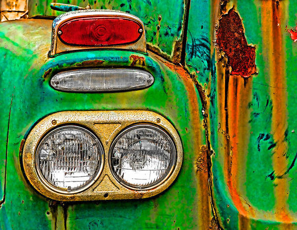 Photograph - Antique Truck Lights by William Jobes