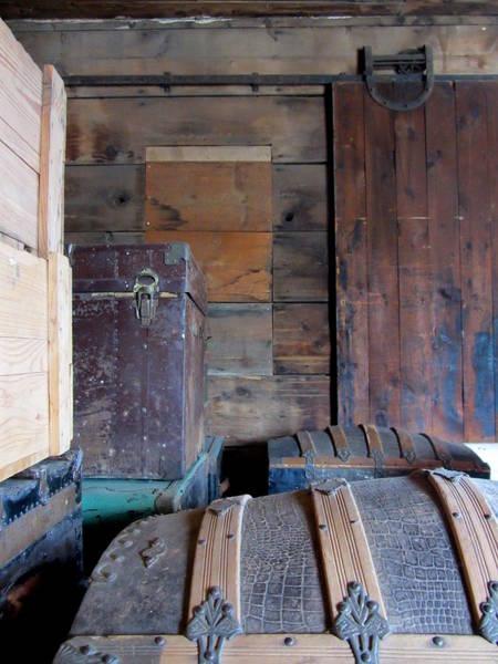 Photograph - Antique Trunks 8 by Anita Burgermeister