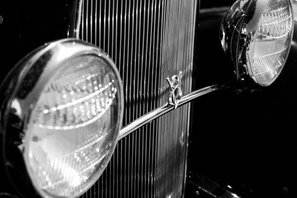 Photograph - Antique V8 Grill By Denise Dube by Denise Dube