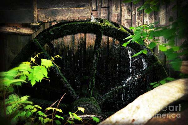 Wall Art - Photograph - Antique Water Wheel On Homestead by Eva Thomas