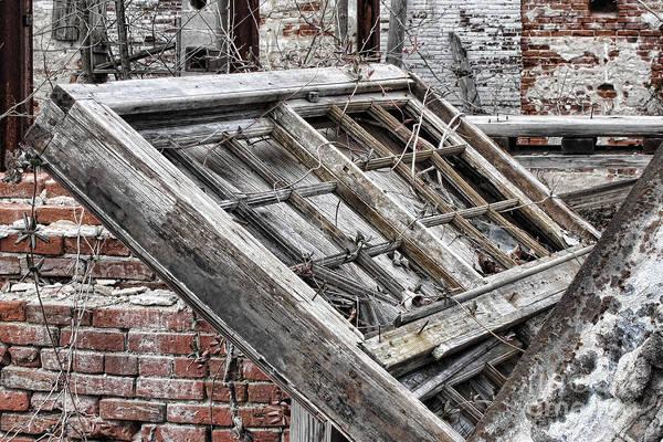 Broken Windows Photograph - Antique Wood Window by Olivier Le Queinec
