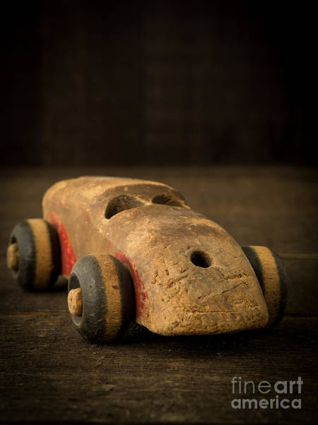 Price Photograph - Antique Wooden Toy Car by Edward Fielding