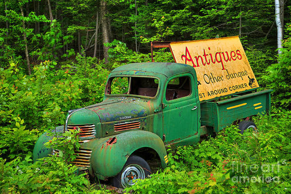 Photograph - Antiques Just Around The Corner by Alana Ranney
