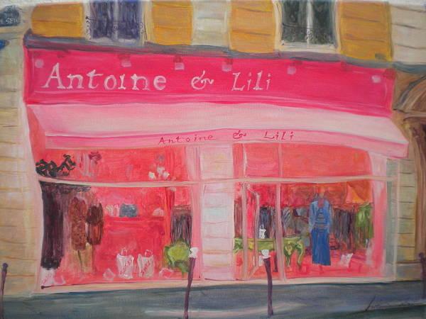 Parisian Photograph - Antoine & Lili, 2010 Oil On Canvas by Antonia Myatt
