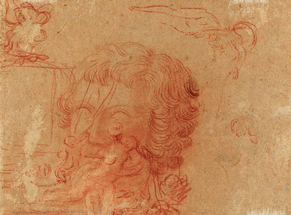 1715 Drawing - Antoine Watteau French, 1684 - 1721, Figure Sketches by Quint Lox