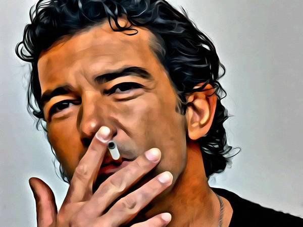 Painting - Antonio Banderas Portrait by Florian Rodarte