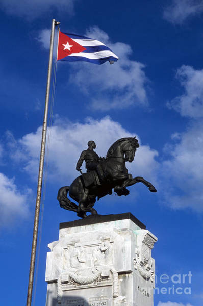 Photograph - Antonio Maceo Monument by James Brunker