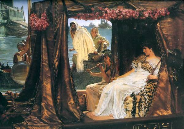 Wall Art - Painting - Antony And Cleopatra by MotionAge Designs
