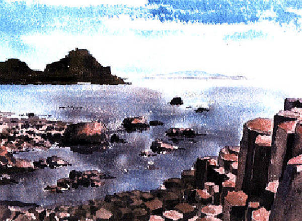 Mixed Media - Antrim  Giants Causeway by Val Byrne
