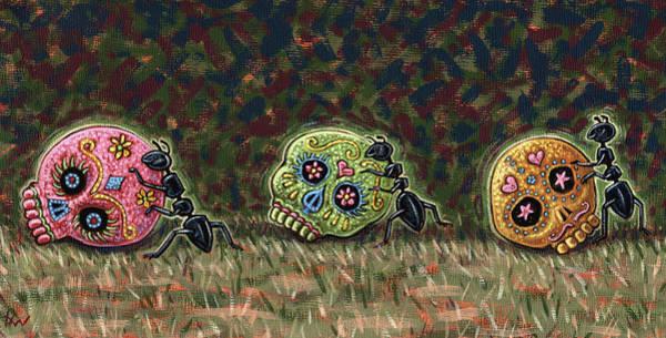Ants And Sugar Skulls Art Print