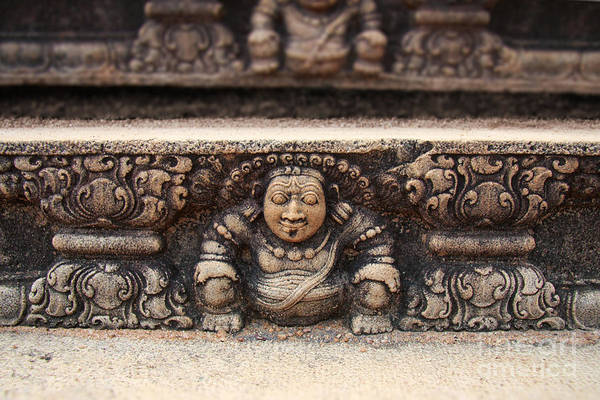 Srilanka Wall Art - Photograph - Anuradhapura Carving by Jane Rix