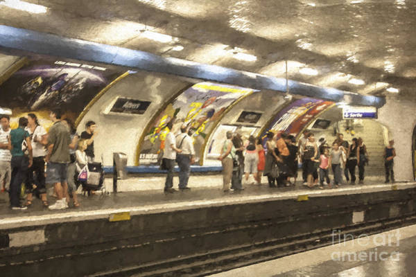 Wall Art - Photograph - Anvers Metro Station In Paris by Sheila Smart Fine Art Photography