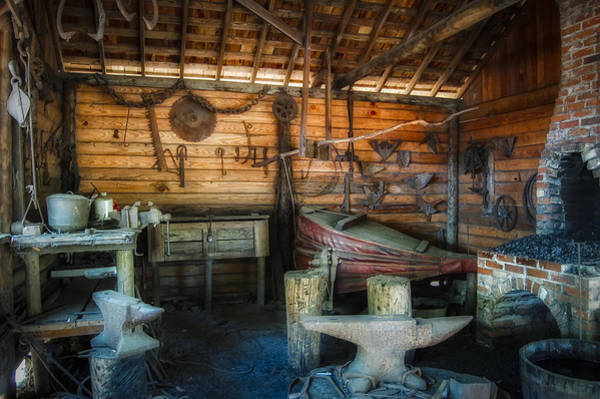 Farrier Photograph - Anvil And Forge by Rich Leighton