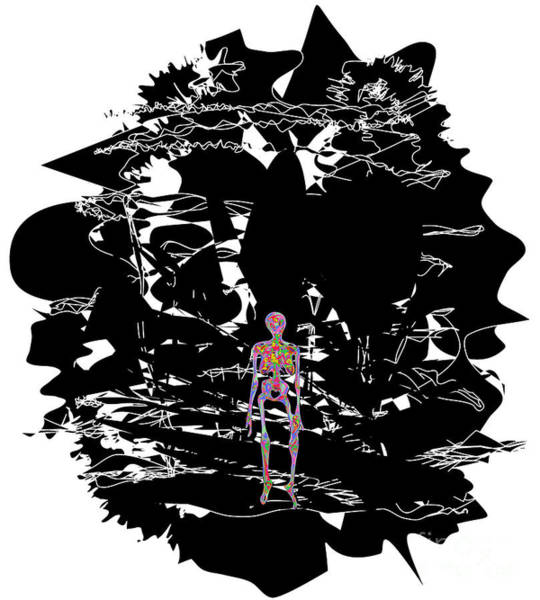 Depressed Digital Art - Anxiety by Chris Butler