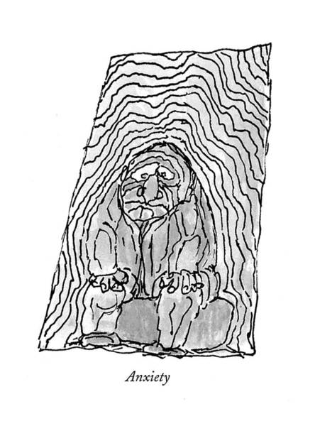February 22nd Drawing - Anxiety by William Steig