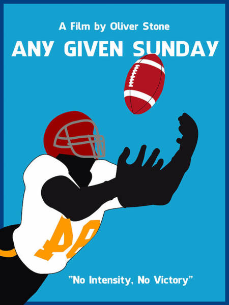 Digital Art - Any Given Sunday Minimalist Movie Poster by Adam Asar