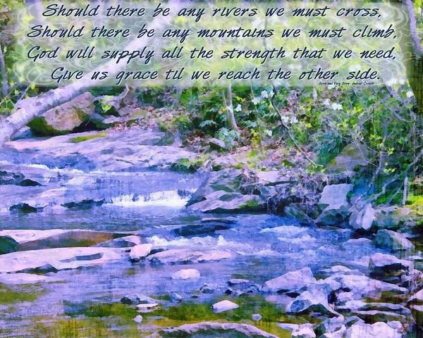 Crouching Digital Art - Any Rivers To Cross by Michelle Greene Wheeler