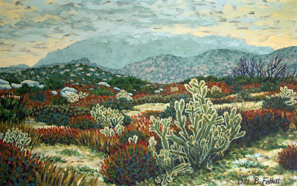 Painting - Anza-borrego Desert Scene by Bonnie Follett