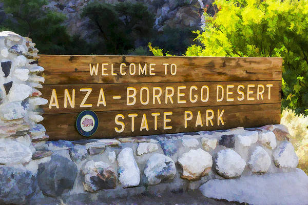 Digital Art - Anza-borrego Desert State Park by Photographic Art by Russel Ray Photos