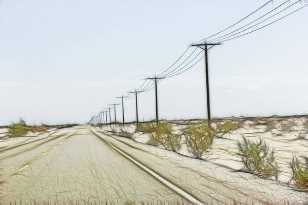 Digital Art - Anza-borrego Desert State Park Roadway by Photographic Art by Russel Ray Photos