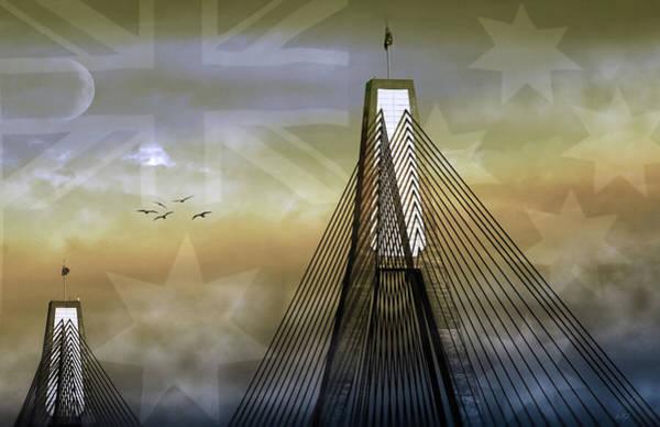 Wall Art - Photograph - Anzac Bridge by Holly Kempe