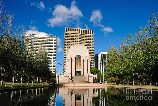 Photograph - Anzac Memorial And Pool Of Reflection by David Hill